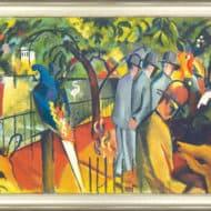 """Original-Dietz-Replik des Ölgemäldes """"Zoologischer Garten I"""" (1912) von August Macke"""