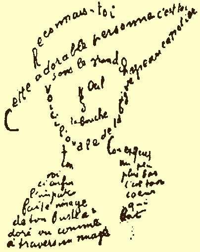 Guillaume Apollinaire, Gedicht aus den Calligrammes