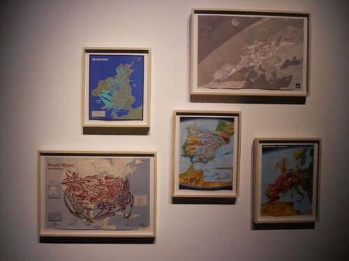 """""""Routes AP"""" - Teil einer Installation von Mona Hatoum (Kochi Muziris Binelle 2014)"""