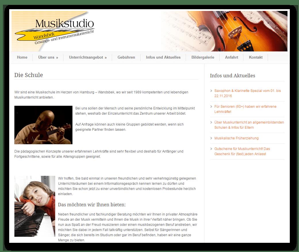 Musikstudio Wandsbek (Hamburg) - Gesangs- und Instrumentalunterricht