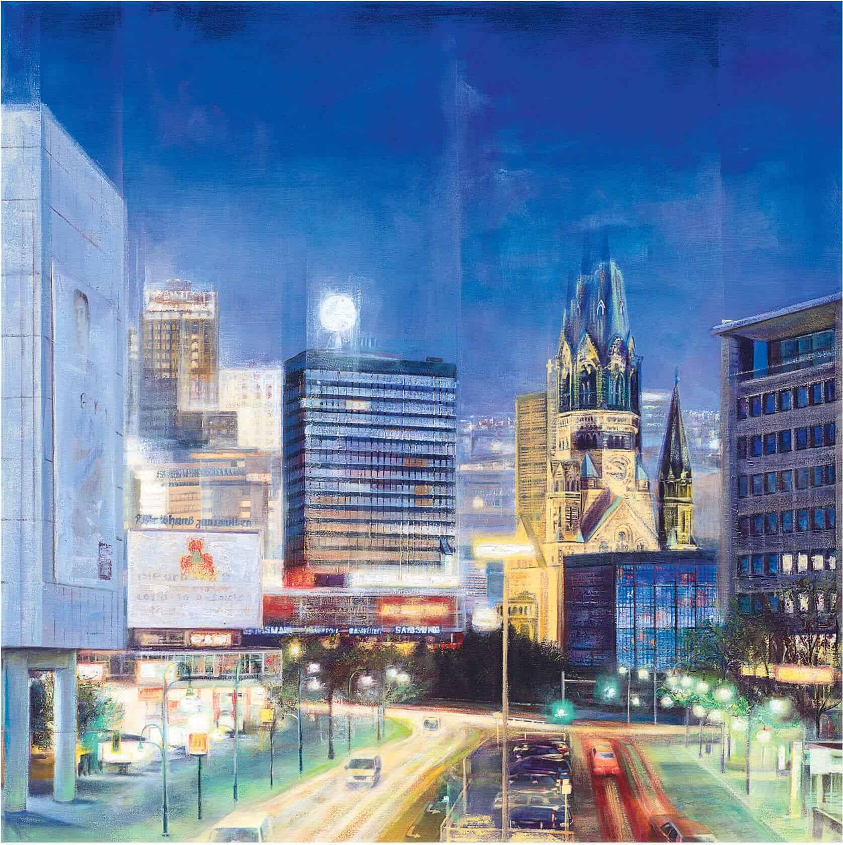 """Berlin by Night"" von Namazbek Chekirov (Limitierte Giclée Reproduktion)"