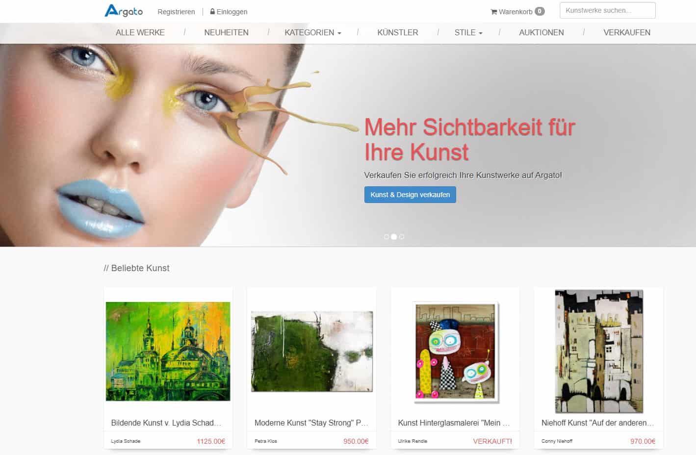 Argato - Online Galerie - Kunst online verkaufen