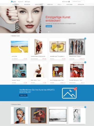 Argato - Online Galerie mit Kunstauktionen