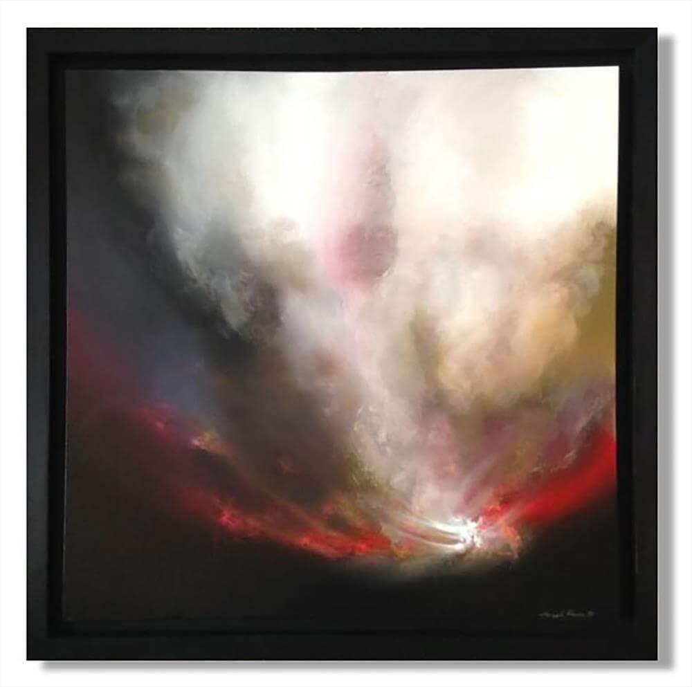 """""""The Beginning of Life"""" - Großformatiges Gemälde in Öl und Acryl von Sheryl Roberts (Unikat)"""