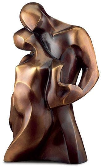 """Bernard Kapfer: Bronzeskulptur """"Pas de Deux - der Weg zu zweit"""" (Limitiertes Multiple)"""