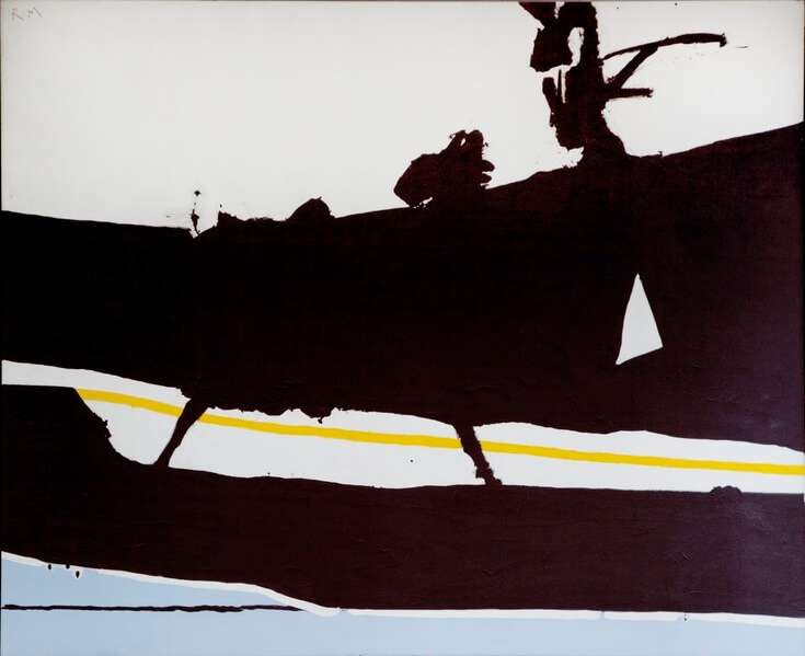 """New England Elegy"" (1966) - Ölgemälde von Robert Motherwell im John F. Kennedy Federal Building (USA)"