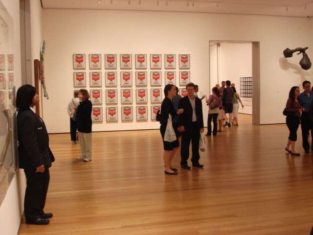 Campbell's Soup Cans von Andy Warhol im MoMA, New York