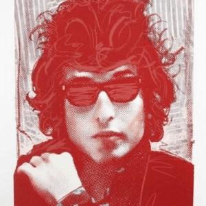 """""""Bob Dylan Red"""" - Limitierter Siebdruck von Richard Duardo"""