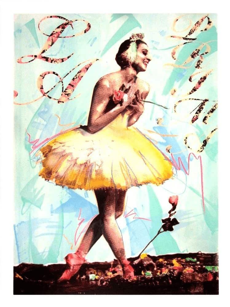 """""""La Prima Ballerina - Blue"""" - Limitierter Siebdruck von Richard Duardo"""