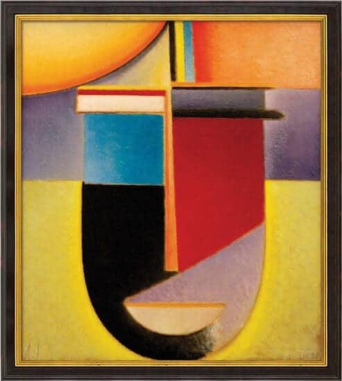 """""""Abstrakter Kopf Sonne-Farbe-Leben"""" von Alexej von Jawlensky (limit. Reproduktion)"""