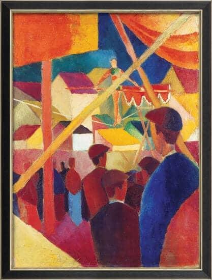 """""""Seiltänzer"""" von August Macke (limitierte Reproduktion)"""