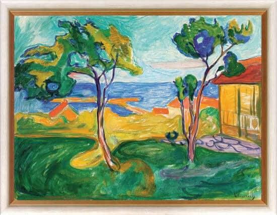 """""""Der Garten in Asgardstrand"""" von Edvard Munch, limitierte Reproduktion"""