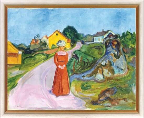 """""""Dorfstraße in Asgardstrand"""" von Edvard Munch, limitierte Reproduktion"""