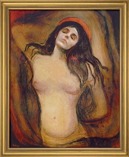 """""""Madonna"""" (1894) von Edvard Munch, limitierte Reproduktion"""