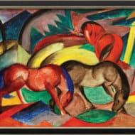 """""""Drei Pferde"""" von Franz Marc (limitierte Reproduktion)"""