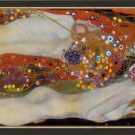 """""""Wasserschlangen II"""" von Gustav Klimt (limitierte Reproduktion)"""