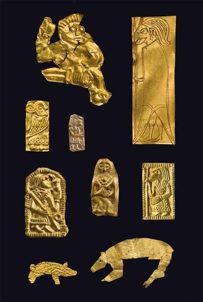 Goldgubber Funde in der Siedlung Sorte Muld auf der dänischen Insel Bornholm