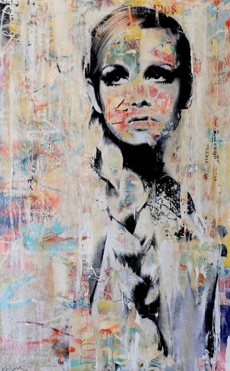 """""""I am still on you"""" - Mixed Media Gemälde des Street Art Künstlers Michiel Folkers"""