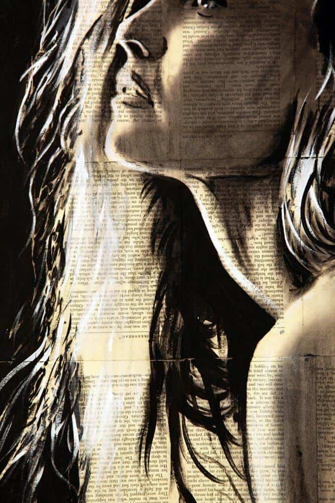 """""""Early Morning Thoughts"""" - Acrylbild und Mixed Media Collage von Darren Crowley"""