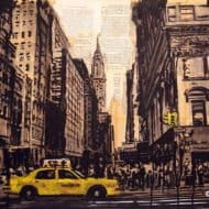 """New York"" - Acrylbild & Mixed Media Collage von Darren Crowley"