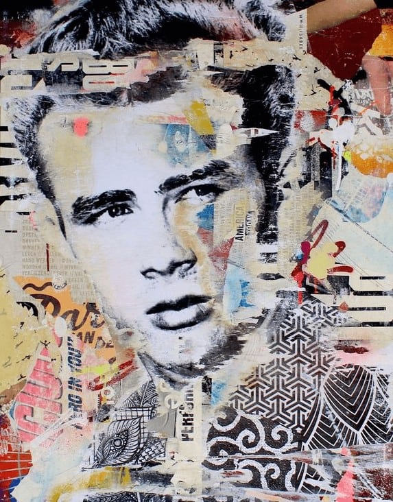 """It's time to start believing"" - Mixed Media Collage von Michiel Folkers"