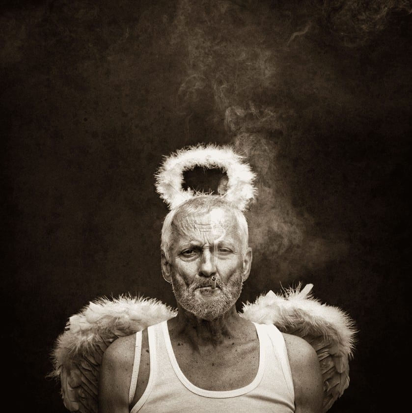 """Bristly Angel"" - Portraitfotografie von Peter Zelei als Giclée Print (limitiert)"