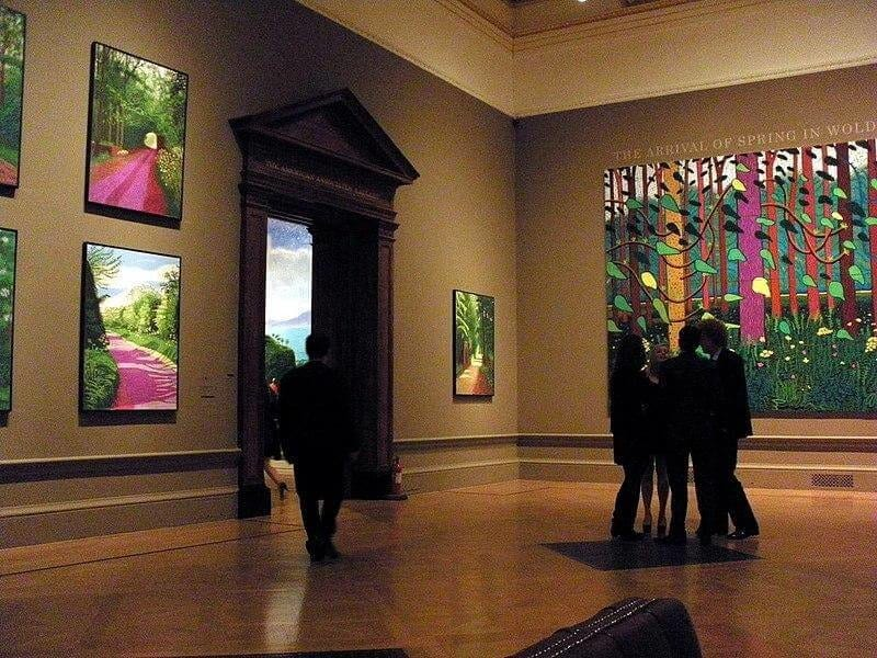 Farbenfrohe Bilder von David Hockney bei der Royal Academy of Arts Ausstellung in London (Jan 2012)