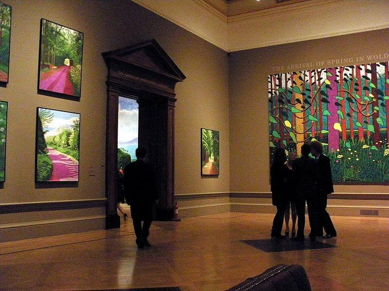 Farbenfrohe Bilder von David Hockney bei der Royal Academy of Arts Ausstellung in London (Jan 2012)