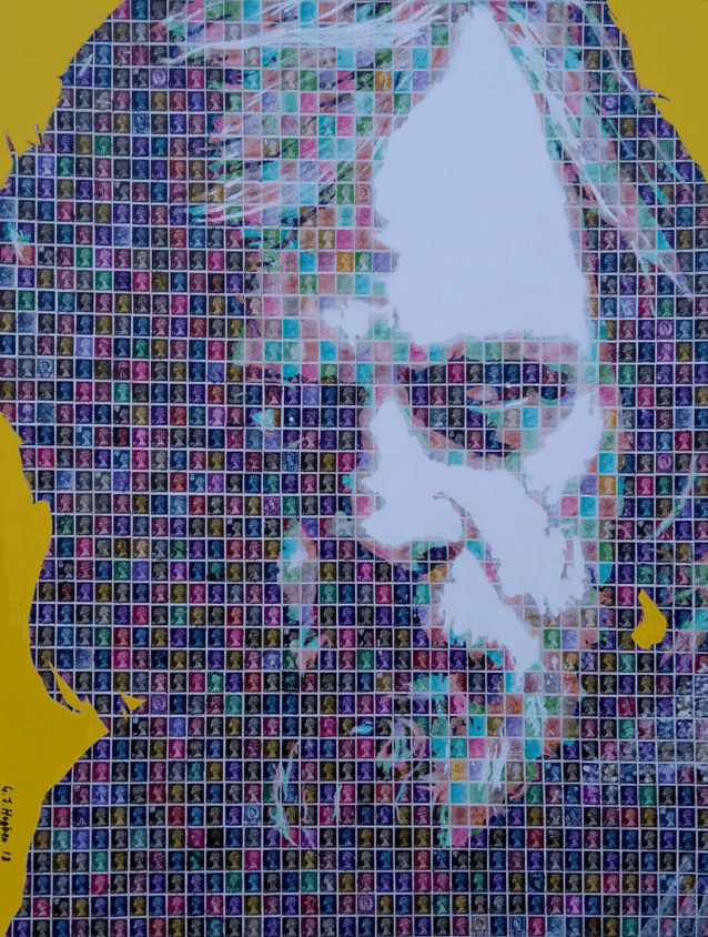 """Luke Skywalker"" - Pop Art Collage von Gary Hogben"