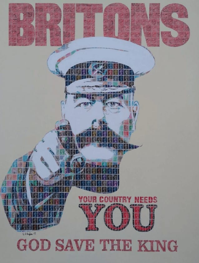 """""""Your Country Needs You"""" - Pop Art Collage von Gary Hogben"""