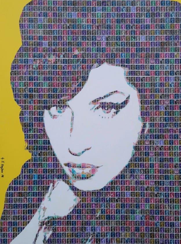 """""""Amy #3"""" - Pop Art Collage von Gary Hogben"""