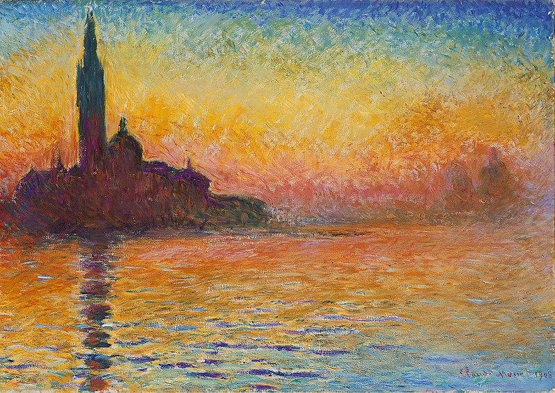 Gemälde Reproduktion - San Giorgio Maggiore in der Dämmerung von Claude Monet