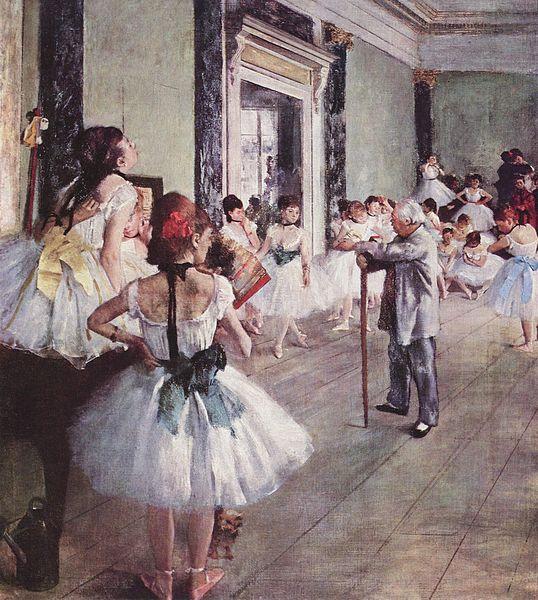 Gemälde Reproduktion: Der Tanzunterricht von Edgar Degas