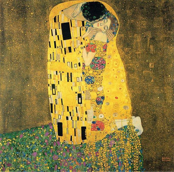 Gemälde Reproduktion: Der Kuss von Gustav Klimt