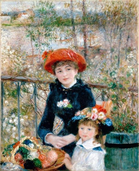 Gemälde Reproduktion: Zwei Schwestern von Pierre Auguste Renoir