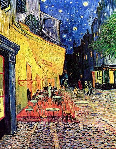 Kunst Repliken: Caféterrasse am Abend / Café Terrace at Night von Vincent van Gogh
