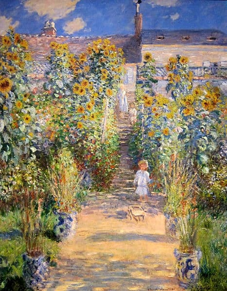 Ölbilder Replikate: Der Garten des Künstlers in Vétheuil / The Artists Garden at Vetheuil von Claude Monet
