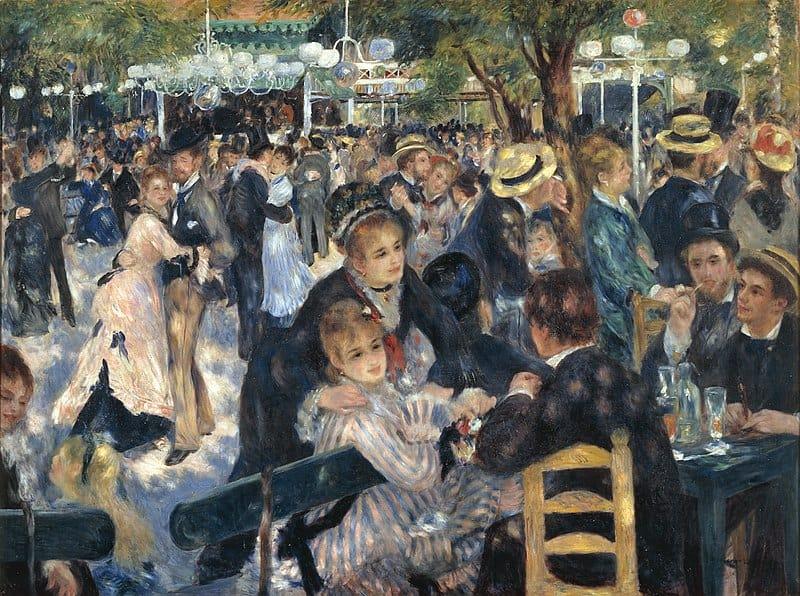 Bal du moulin de la Galette von Pierre Auguste Renoir