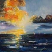 """Beautiful Seascape Sailing SM 2"" - Acrylgemälde von Peter Nottrott"