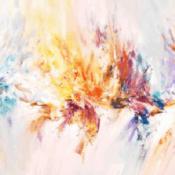 """""""Stick: Soft Daydream 2"""" - Abstraktes Acrylgemälde von Peter Nottrott"""