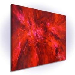 """""""Deep Magenta Red XL 1"""" - Abstraktes Acrylgemälde von Peter Nottrott"""