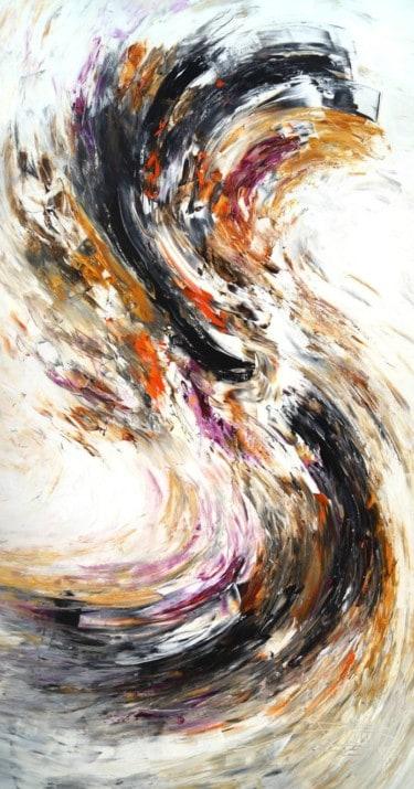 """""""Black And White XXL 2"""" - Abstraktes Kunstwerk von Peter Nottrott"""
