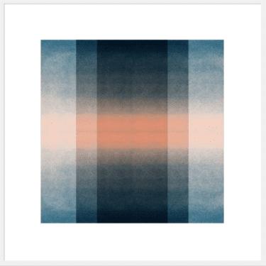 """Blush Pink & Midnight Blue: Color Space"" - Abstrakter Open Edition Print von Jessica Poundstone"