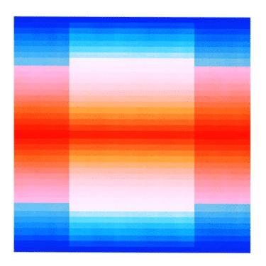 """""""Color Space Series 50: Spectrum"""" - Abstrakter Kunstdruck von Jessica Poundstone"""
