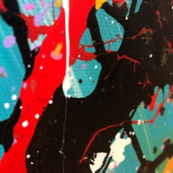 """Farbenfrohes Acrylgemälde """"Zitadelle"""" von Dieu (2019)"""
