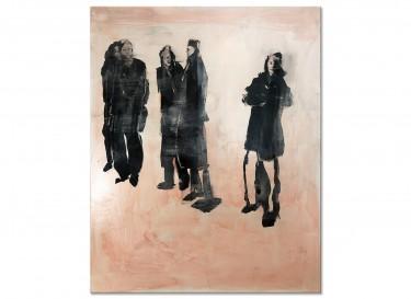 """Modernes Ölgemälde """"Besucher IV"""" von M. Plaickner"""