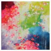 "abstraktes Unikatgemälde ""Blütenmeer"" Von Lydia Schade Fox"