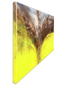"""Abstraktes Acrylgemälde """"Das erste Grün nach Wintertagen"""" von T. Stephan"""