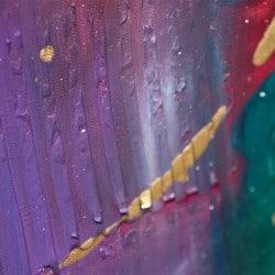 """farbenfrohes abstraktes Bild """"Farbe bekennen!"""" Unikat von T. Stephan"""