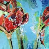 """Modernes Gemälde in Mixed Media Art """"Flower Power"""" Spraypainting von M. Tobner"""